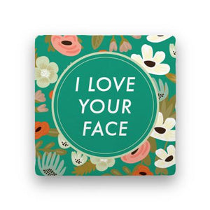 I Love Your Face-Garden Party-Paisley & Parsley-Coaster