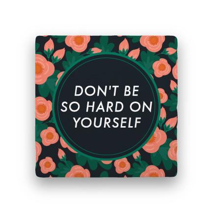 Hard on Yourself-Garden Party-Paisley & Parsley-Coaster
