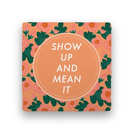 Show Up-Garden Party-Paisley & Parsley-Coaster