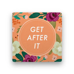 Get After It-Garden Party-Paisley & Parsley-Coaster