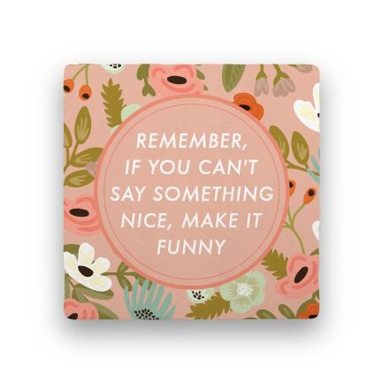 Make It Funny-Garden Party-Paisley & Parsley-Coaster