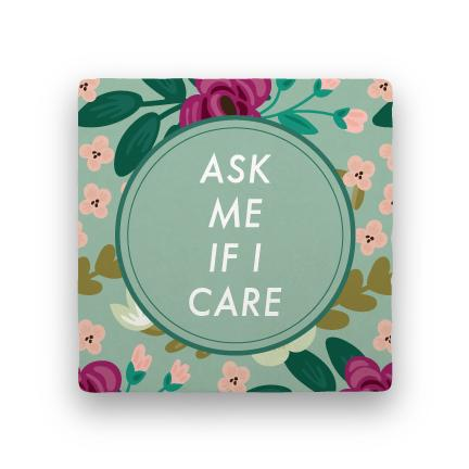 Ask Me-Garden Party-Paisley & Parsley-Coaster