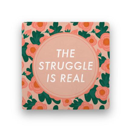 The Struggle-Garden Party-Paisley & Parsley-Coaster