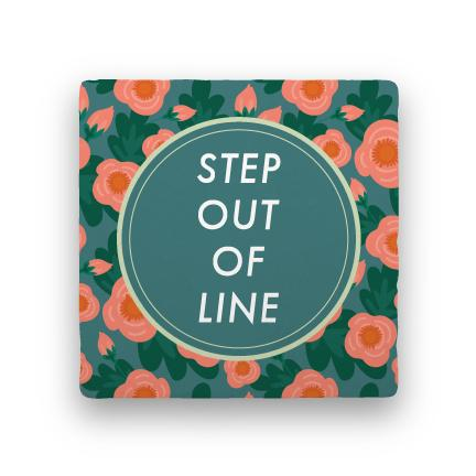 Step Out of Line-Garden Party-Paisley & Parsley-Coaster