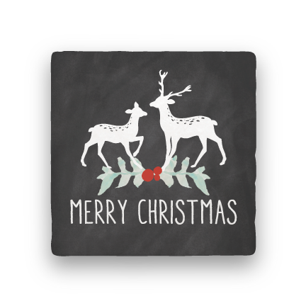 Merry Christmas Deer-Holiday-Paisley & Parsley-Coaster