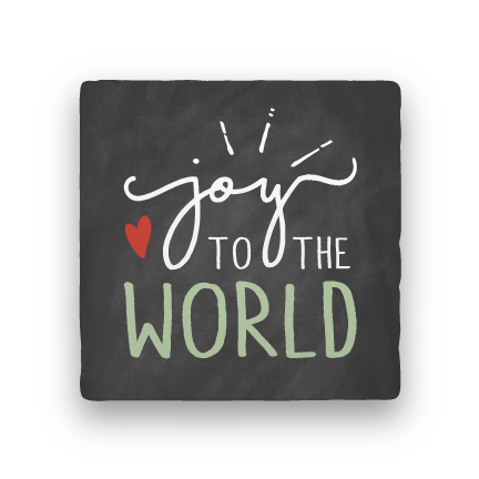 Joy to the World-Holiday-Paisley & Parsley-Coaster