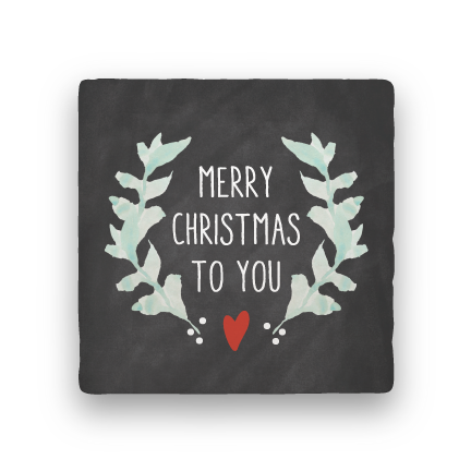 Merry Christmas to You-Holiday-Paisley & Parsley-Coaster