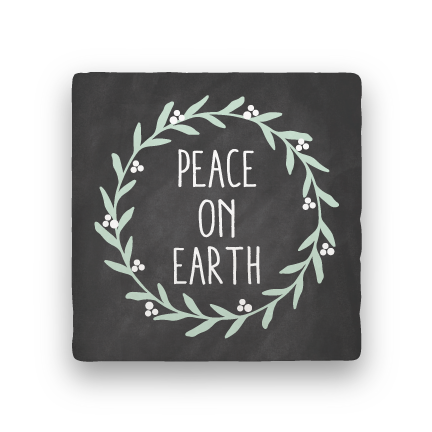 Peace On Earth-Holiday-Paisley & Parsley-Coaster