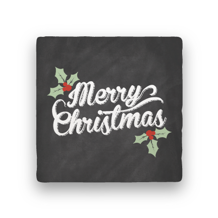 Merry Christmas Holly-Holiday-Paisley & Parsley-Coaster