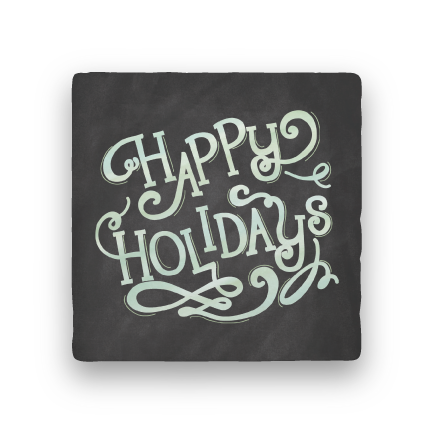 Happy Holidays-Holiday-Paisley & Parsley-Coaster