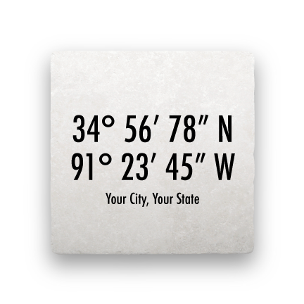 Coordinates - Modern-Personalized-Paisley & Parsley-Coaster