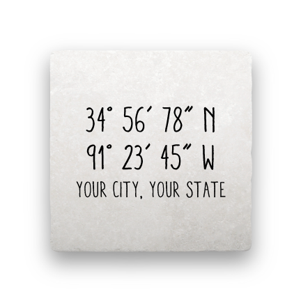 Coordinates - Handwritten-Personalized-Paisley & Parsley-Coaster