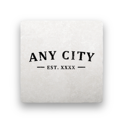 EST. (Any City)-Personalized-Paisley & Parsley-Coaster