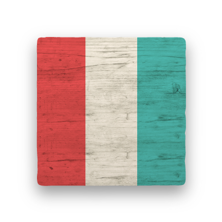T - Tango-Nautical Flag Alphabet-Paisley & Parsley-Coaster