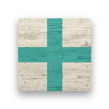 X - Xray-Nautical Flag Alphabet-Paisley & Parsley-Coaster