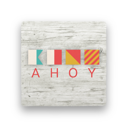 Ahoy-Let's Be Nautical-Paisley & Parsley-Coaster