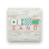 Sand-Let's Be Nautical-Paisley & Parsley-Coaster