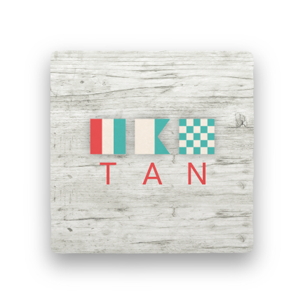 Tan-Let's Be Nautical-Paisley & Parsley-Coaster