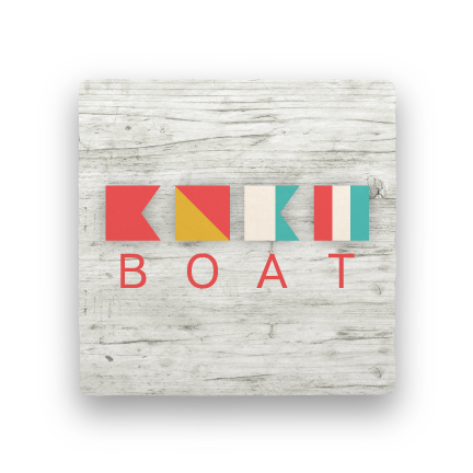 Boat-Let's Be Nautical-Paisley & Parsley-Coaster