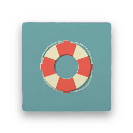 Lifesaver-Summer Vacation-Paisley & Parsley-Coaster