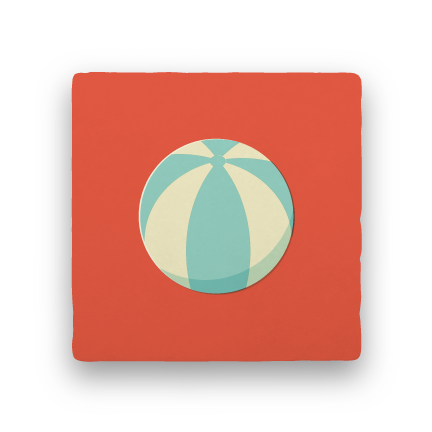 Beach Ball-Summer Vacation-Paisley & Parsley-Coaster