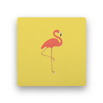 Flamingo-Summer Vacation-Paisley & Parsley-Coaster