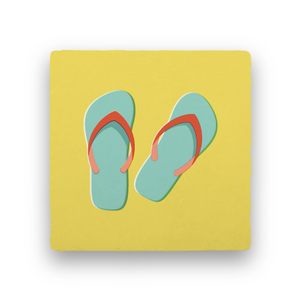 Flip Flops-Summer Vacation-Paisley & Parsley-Coaster