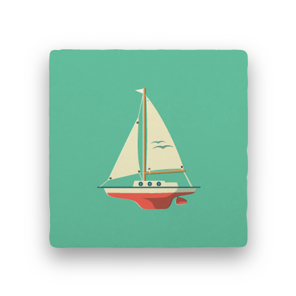 Sailboat-Summer Vacation-Paisley & Parsley-Coaster