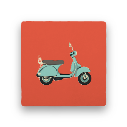 Moped-Summer Vacation-Paisley & Parsley-Coaster