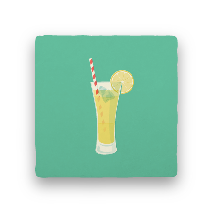 Cold Drink-Summer Vacation-Paisley & Parsley-Coaster