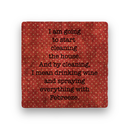 Housework-Polka Spots-Paisley & Parsley-Coaster