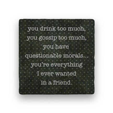 Friend-Polka Spots-Paisley & Parsley-Coaster