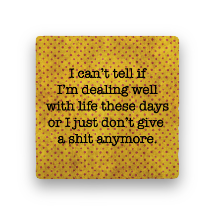 Dealing with Life-Polka Spots-Paisley & Parsley-Coaster