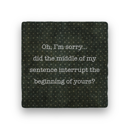 Interrupt-Polka Spots-Paisley & Parsley-Coaster