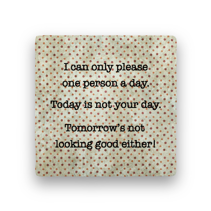 Please-Polka Spots-Paisley & Parsley-Coaster
