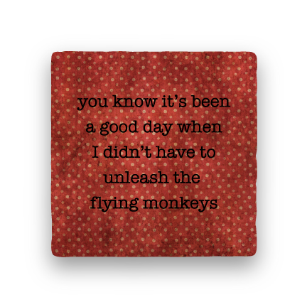 Flying Monkeys-Polka Spots-Paisley & Parsley-Coaster