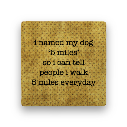 5 Miles-Polka Spots-Paisley & Parsley-Coaster