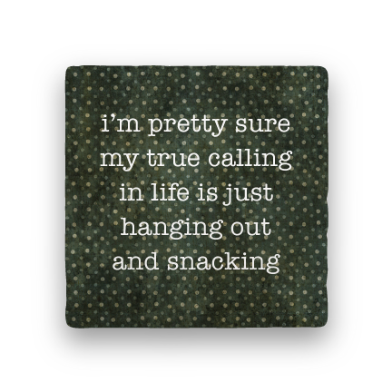 Snacking-Polka Spots-Paisley & Parsley-Coaster