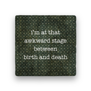 Awkward Stage-Polka Spots-Paisley & Parsley-Coaster