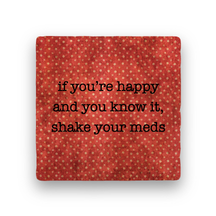 Shake Meds-Polka Spots-Paisley & Parsley-Coaster