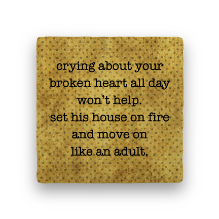 Broken Heart-Polka Spots-Paisley & Parsley-Coaster