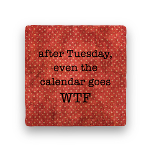 After Tuesday-Polka Spots-Paisley & Parsley-Coaster