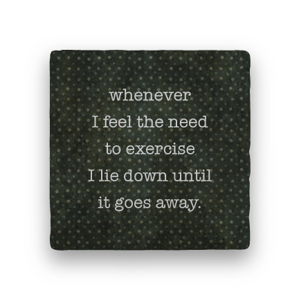 Need to Exercise-Polka Spots-Paisley & Parsley-Coaster