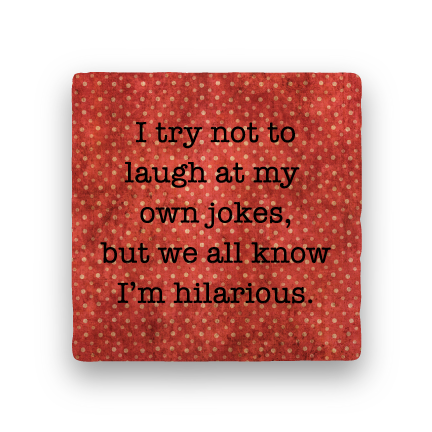 Hilarious-Polka Spots-Paisley & Parsley-Coaster