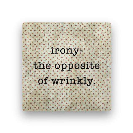 Irony-Polka Spots-Paisley & Parsley-Coaster
