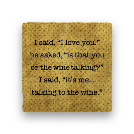 I Love You-Polka Spots-Paisley & Parsley-Coaster