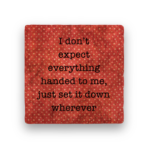 I Don't Expect-Polka Spots-Paisley & Parsley-Coaster