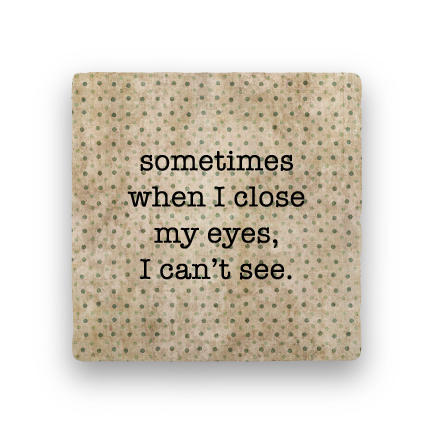 Close My Eyes-Polka Spots-Paisley & Parsley-Coaster