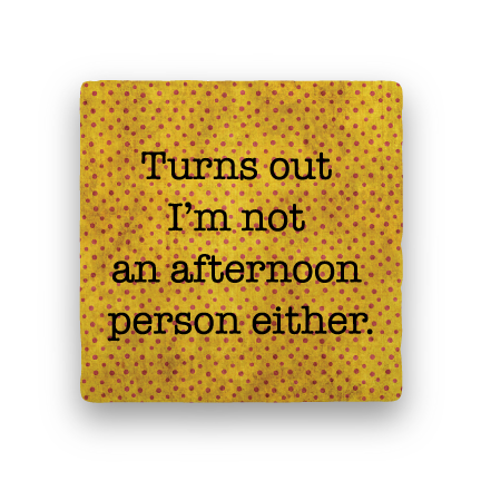 Afternoon Person-Polka Spots-Paisley & Parsley-Coaster