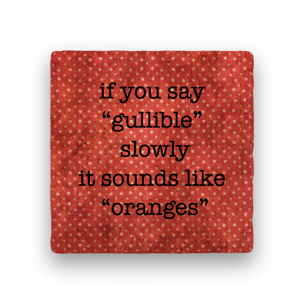 Gullible Oranges-Polka Spots-Paisley & Parsley-Coaster